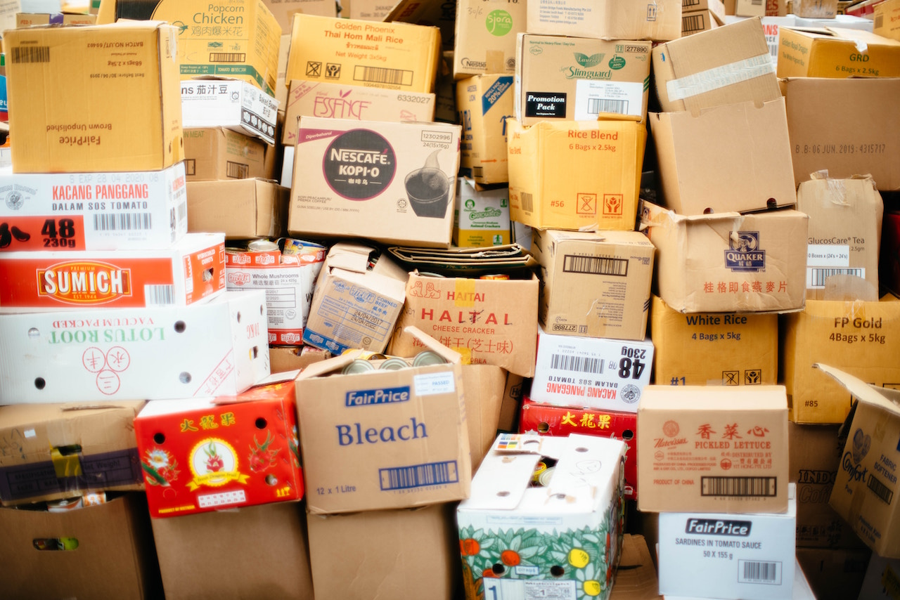 Boxes of the evicted tenant