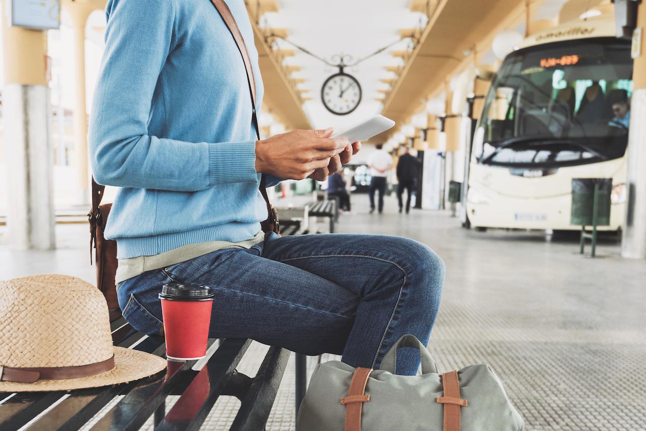 Resident waiting for public transportation