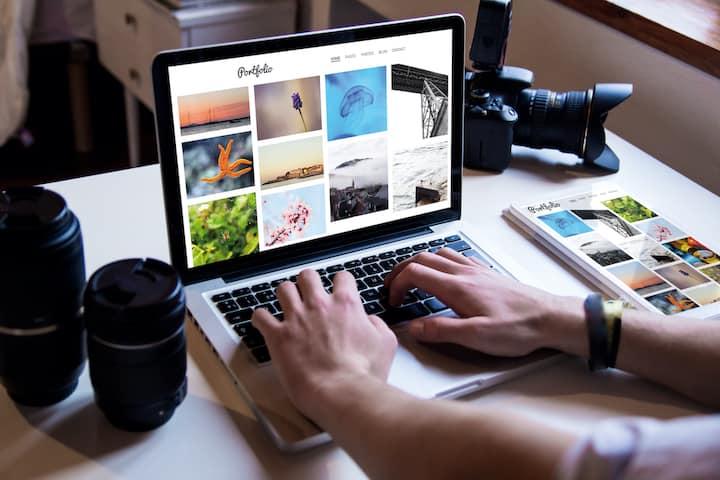 Create photo portfolio