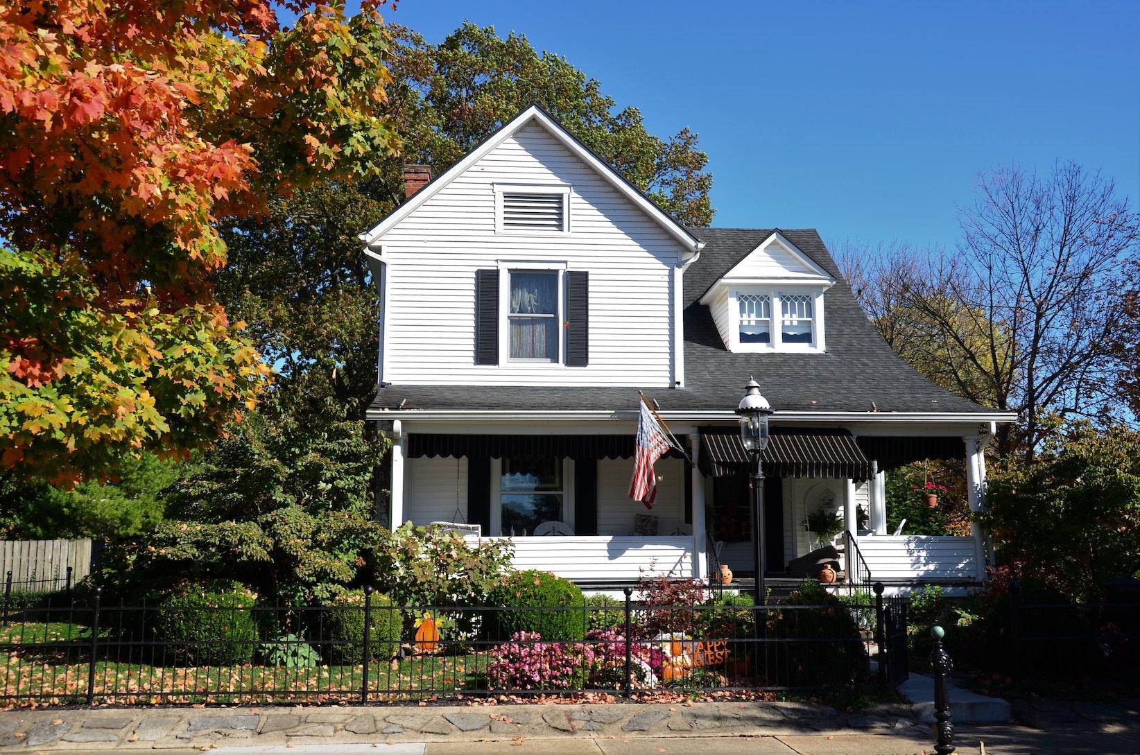 house in suburbs